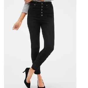 NWT Gap Sky High Button Front Legging Jeans c73